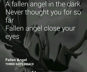 fallen angel, rock, and musixmatch image