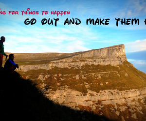 boys, mountain, and quote image