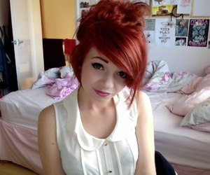 girl, red hair, and cute image