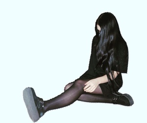 black, creepers, and girl image
