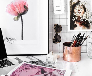 pink, tumblr, and flowers image