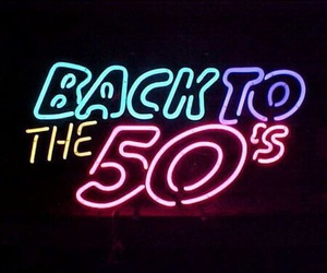 50s, light, and neon image