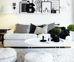 white, black, and home image