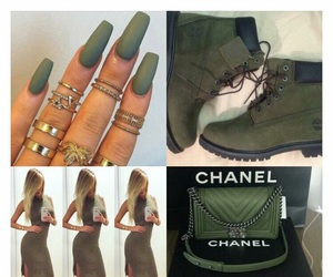nails, chanel, and green image