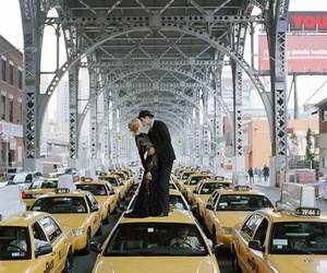 love, kiss, and taxi image