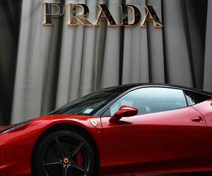 car, Prada, and red image