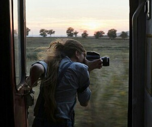 photography, camera, and train image