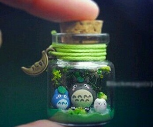totoro, cute, and bottle image