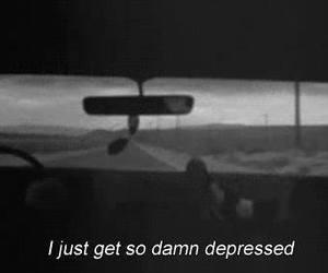 depressed, sad, and depression image