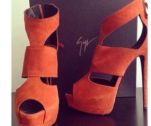 shoes, fashion, and orange image