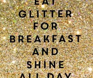 glitter, shine, and breakfast image