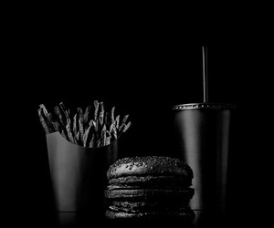 black, food, and foods image