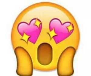emoji, overlay, and hearts image