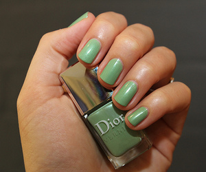 nail polish, nails, and Christian Dior image