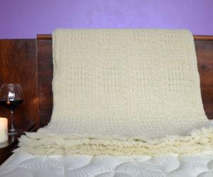 white blanket, warm blanket, and wool blanket image