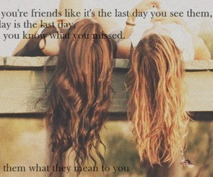 love, friendship, and brunette image