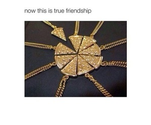 pizza, necklace, and friendship image