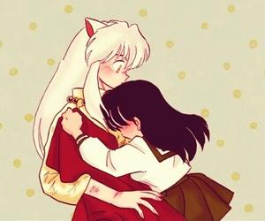 inuyasha, anime, and hug image