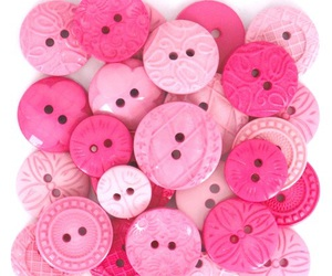 buttons, pink, and cute image