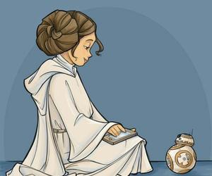 Princess Leia, bb8, and star wars image