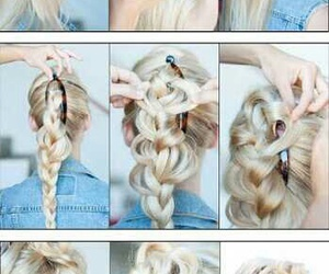 cheveux, cheveux blonds, and tuto image