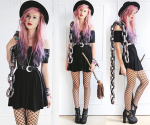 fashion, hair, and witch image