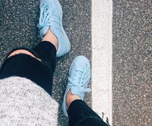 adidas, blue, and fashion image