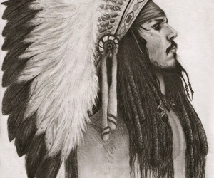 johnny depp, drawing, and jack sparrow image