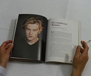 leonardo dicaprio, book, and boy image