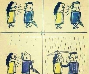 love, rain, and funny image