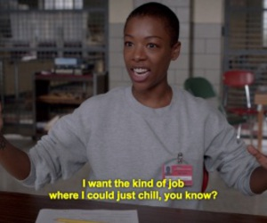 orange is the new black, job, and funny image