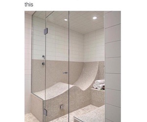 shower, funny, and bathroom image