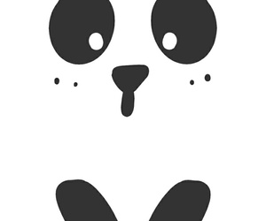 black, panda, and wallpaper image