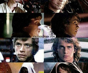 Anakin Skywalker, luke skywalker, and star wars image