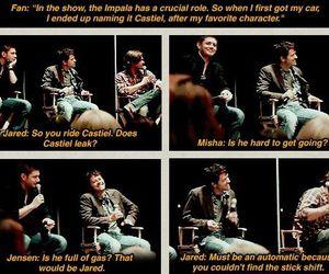 Jensen Ackles, supernatural, and misha collins image