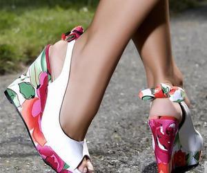fashion, glamour, and wedges image