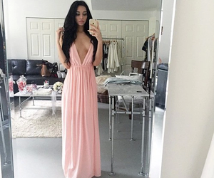dress, pink, and style image