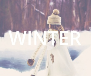 december, easel, and snow image
