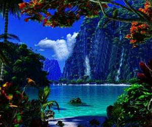paradise, nature, and beach image