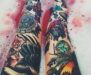 legs and tatoo image
