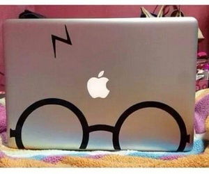 harry potter, apple, and computer image