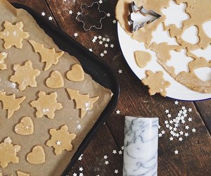 dough, gingerbread, and table image