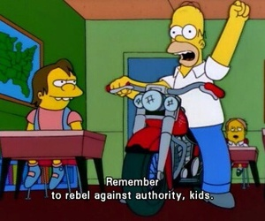 rebel, the simpsons, and grunge image