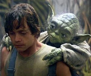star wars, luke skywalker, and yoda image
