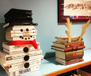 book, christmas, and snowman image