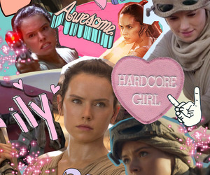 rey, star wars, and the force awakens image