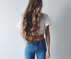 fashion, hair, and girl image