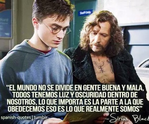 harry potter, sirius black, and frases image