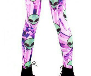 alien, leggings, and tights image