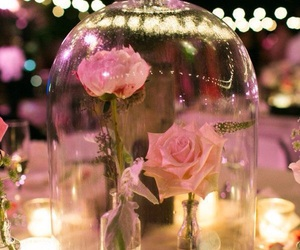 rose, wedding, and flowers image